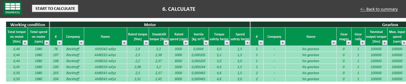 Servo Motor Sizing Spreadsheet | Free Download | EnginExcel